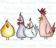Chicken Clique - Chickens - Animals - Rubber Stamps - Shop