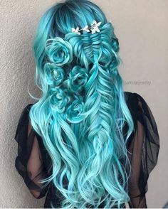 Hairstyles and Beauty: The Internet`s best hairstyles, fashion and makeup pics are here. Cute Hair Colors, Pretty Hair Color, Hair Dye Colors, Spring Hairstyles, Pretty Hairstyles, Braided Hairstyles, Love Hair, Gorgeous Hair, Mermaid Hair
