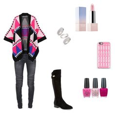 """""""Girls night out"""" by fashion-ah12 ❤ liked on Polyvore featuring beauty, Balmain, WithChic, Nicole Miller, Sephora Collection, OPI, Topshop and Casetify"""