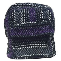 Baja Sweatshirt Material Backpack Made of 100% Recycled Fibers (Purple) ** Be sure to check out this awesome product.