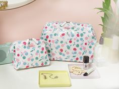 Cherry Stamp Wash Bag & Cosmetic Bag | Cath Kidston Spring Summer 2016 |