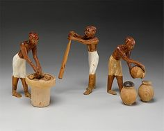 Model Brewery from the Tomb of Meketre; made from wood, gesso, paint & linen; dated circa 1981-1975 B.C via The Metropolitan Museum of Art