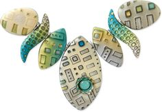 Polymer with hardware from Julie Picarello.  For a nice discussion of hardware goodies, go to http://www.polymermasterclass.com/some-of-julies-favorites-things/   #Polymer #Clay #Tutorials