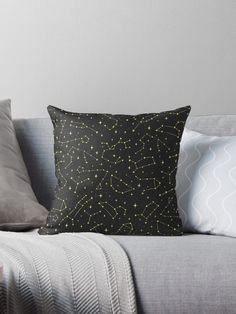 Gold Zodiac Constellations Pattern Throw Pillow by Anastasia Shemetova #space #cosmos #cosmic #pattern #gold #universe #golden #aries #stars #taurus #cancer #leo #virgo #girlish #constellations #zodiac #sign #starry #night #sky #pisces #aquarius #sagittarius #gemini #capricorn #shopping #libra #scorpio #buyonline #faerieshop #redbubble #homedecor #home #decor #decoration #pillows