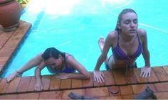 deux façons de sortir d'une piscine