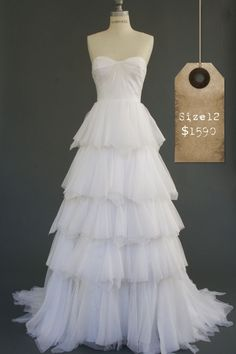Ivy & Aster Ruffles #wedding #dress
