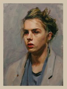 "★ ""Lotti"" - Louis Smith, oil on canvas {blonde female head woman face portrait cropped painting} Acrylic Portrait Painting, Oil Portrait, Painting & Drawing, Portrait Paintings, Oil Paintings, Paintings Of Faces, Painting Process, Painting Videos, Portrait Ideas"