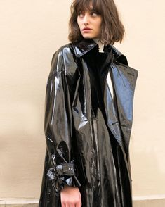 Raincoats for Women Girls Raincoat, Black Raincoat, Raincoat Outfit, Vinyl Raincoat, Pvc Raincoat, Plastic Raincoat, Black Rain Jacket, Rain Jacket Women, Patent Trench Coats