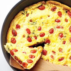 The economical egg is a great base for all sorts of hearty flavors; our versatile frittata recipe can be made with a variety of ingredients for an easy meal anytime.Also try: Potato-Leek Frittata, Spinach, Onion, and Bacon Frittata, and Ham, Zucchini, and Gruyere Frittata