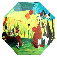 Almond Blossom 1 Get Orange Oil Painting 3 Folding Parasol Sun Protection Anti-uv Travel Umbrella