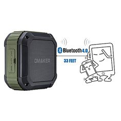 [Best Outdoor&Shower Bluetooth Speaker Ever] Omaker Portable Bluetooth Speaker with 12 Hour Playtime for Outdoors/Shower (Army Green) Waterproof Bluetooth Speaker, Bluetooth Speakers, Electronics Online, Army Green, Shower, Outdoors, Nice, Rain Shower Heads, Outdoor