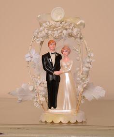 Vintage Bride Groom Wedding Cake Topper