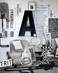 BlackandWhite BlackandWhite The post BlackandWhite appeared first on Wohnen ideen. Interior Styling, Interior Decorating, Interior Design, Color Inspiration, Interior Inspiration, Inspiration Boards, Home And Deco, Black N White, Home Living