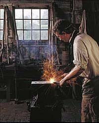 "Blacksmith - Fire Element, The Forge - image for vision board, novel ""Legacy"" by Jesikah Sundin Early American Furniture, Flintlock Pistol, Black Smith, Blacksmith Forge, Fire Element, Bergen County, My Ancestors, Blacksmithing, Metal Art"