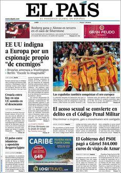Los Titulares y Portadas de Noticias Destacadas Españolas del 1 de Julio de 2013 del Diario El País ¿Que le parecio esta Portada de este Diario Español?