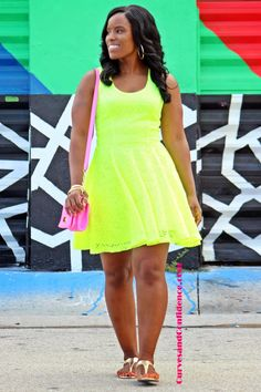 Curves and Confidence   A Miami Style Blogger: Weekend Wear: Neon Squared