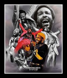 """Marvin Gaye: The Prince of Soul by Wishum Gregory. A member of our """"Legends Series"""". Damn I love Marvin.and this art print is kind of fly. I'm diggin' the colors. Quiet Storm, Black Love Art, Black Style, Soul Singers, Black Art Pictures, Neo Soul, Frederick Douglass, Marvin Gaye, Black Artists"""