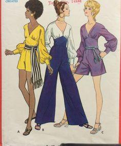 Butterick 5719 vintage 1970's misses jumpsuit & sash sewing pattern size 10 bust 32.5 by RuralRetroTreasures on Etsy https://www.etsy.com/listing/469671963/butterick-5719-vintage-1970s-misses