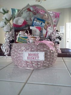 Boob job recovery gift basket.. One of my crafty friends can make this for me  @Jessica Jones @Katie Reid
