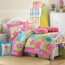 Comforter for my daughter's bed || Hula Girl Quilt Set, 100% Cotton