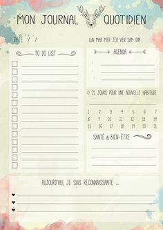 Daily Log My Daily Log To by MesJolisPrintables Fiche journalière Mon journal quotidien à par MesJolisPrintables Daily Log My Daily Log To by MesJolisPrintables