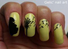 Gelic' nail art: 31DC2013 Day 31; Dandelion nail art