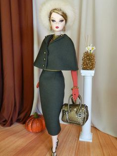 'Autumn Dawn' OOAK Fall Fashion for Silkstone Barbie by Joby Originals