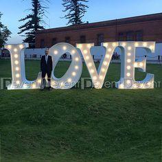 Renta de Letras GIGANTES para bodas y eventos. Letras iluminadas, letras con focos, corazones gigantes, mesas de novios, mesas de postres, eventos tematicos.