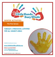 THE FIVE SENSES - Weekly Thematic Unit for Toddlers and Pre-K from LittleHands-BusyMinds on TeachersNotebook.com -  - A weekly unit with five days of activities in all subject areas (math, science, circle time, etc.).  Includes planning web.  Activities are aligned with the learning standards.