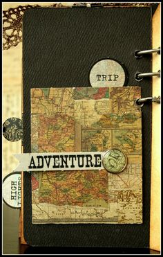 CHerInspirations: Mini travel album with template instructions
