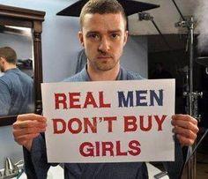 Justin Timberlake speaks out against human trafficking.