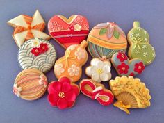 """和柄のアイシングクッキー""""真似したい和の芸術的なアイデア""""集   iemo[イエモ]"""