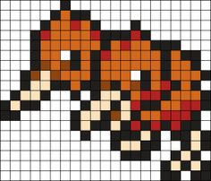 Doduo Pokemon Bead Pattern