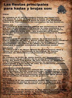 Trastos de Bruja: Fiestas principales para hadas y brujas