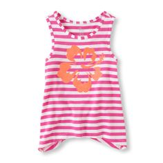 Cute graphics, a fashion fit and snazzy stripes makes this tank totally cool!