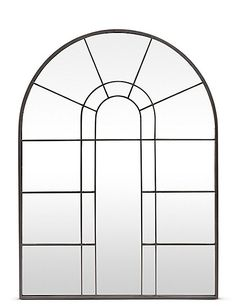 Buy the Arch Window Mirror from Marks and Spencer's range. Arched Window Mirror, Arched Windows, Mirror Wall Art, Mirrors, Standing Mirror, Black Mirror, Interior Decorating, Home Decor, Landing