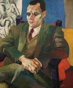 Portrait of Alberto Moravia by Renato Guttuso (1940)