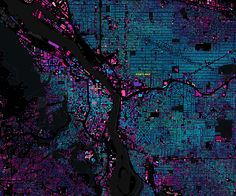 Portland, Oregon: The Age of a City / building age map of Portland / via enf