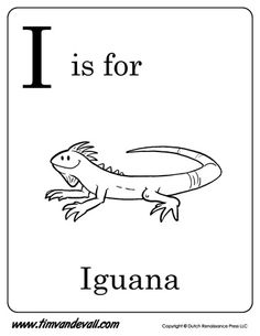 heres an i is for iguana coloring page and an i is for iguana printable poster created to help parents and teachers teach their kids about the letter i