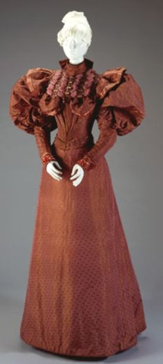 Afternoon Dress: Bodice And Skirt    Date:1894  Place:Cincinnati/Ohio/United States