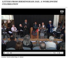 Video of the event http://www.sjsu.edu/at/atn/webcasting/events/Worldwide_Celebration_041613/ by Dr. Martin Luther King Library, Jr. San Jose State University and San Jose Public Library Joint Reading (San Jose, California)