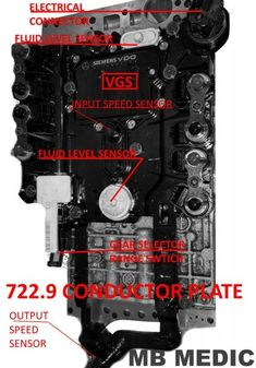 Mercedes – 722.9 7G-Tronic Valve Body & Conductor Plate – Must Read – MB Medic