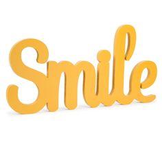 Wanddekoration Smile VINTAGE, L 55 cm, gelb