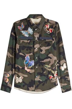 00d574c54c838 Valentino - Printed Cotton Shirt with Patches