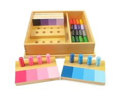 Montessori Sensorial Material Color Resemblance Sorting Task helps in the development of visual discrimination of colour. It is fun and playful. The child acquires sorting and grading skills and learn
