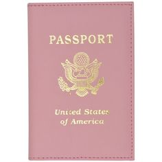 Amazon.com: Travel Leather Passport Organizer Holder Card Case... ($4.99) ❤ liked on Polyvore featuring bags, fillers, accessories, items, pink, other, red bag, travels bags, light pink bag and leather bags