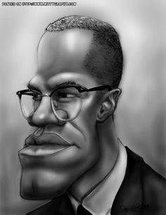 Malcolm X  (by Don Pinsent)