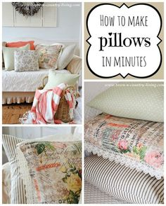 How to Make Pillows in Minutes