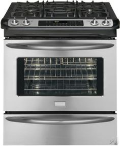 """Frigidaire FGGS3065KF 30"""" Slide-in Gas Range with 4 Sealed Burners, 4.2 cu. ft. True European Convection Oven, Self-Clean, Warming Drawer, A..."""