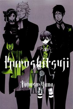 Ciel and Sebastian with Sieglinde and Wolf
